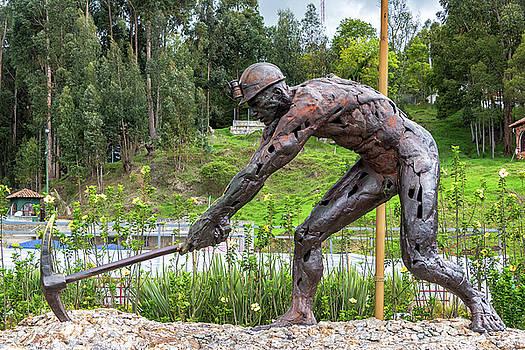 Salt Miner Statue by Jess Kraft
