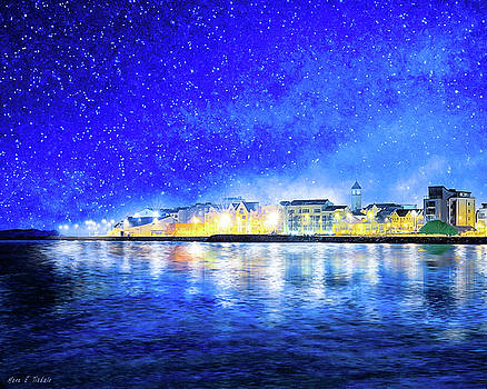 Salthill At Night - Galway Bay by Mark Tisdale