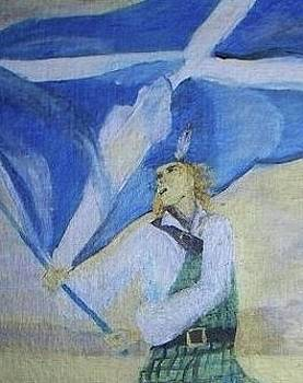 Saltire flag  by Patricia Hovey