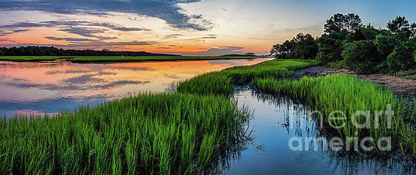 Saltwater Marsh Summer Sunrise by David Smith