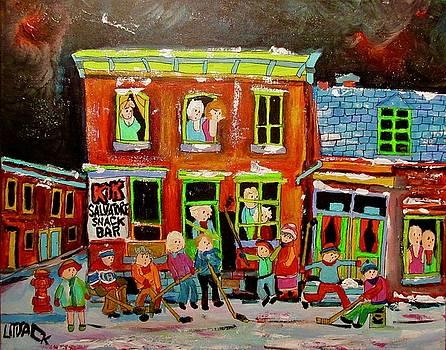 Salvatore's Snack Bar Goose Village 1960's by Michael Litvack