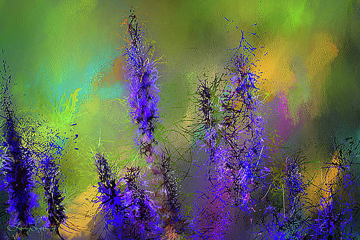 Salvia May Night Art -Purple Modern Abstract Art by Lourry Legarde
