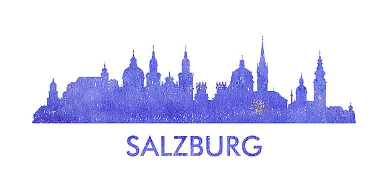 Vyacheslav Isaev - Salzburg city purple skyline