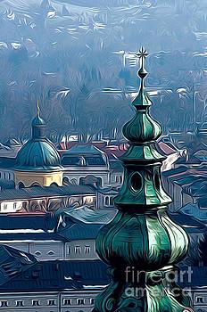 Salzburg spires by Andrew Michael