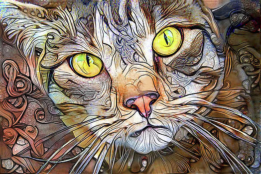 Sam the Brown Tabby Cat by Peggy Collins