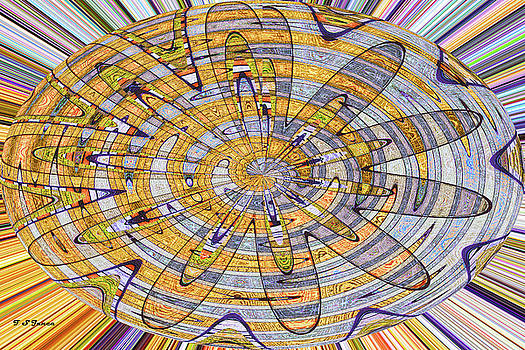 Sample Panel Abstract Oval by Tom Janca