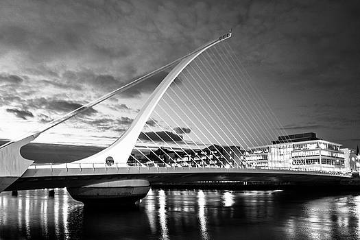 Samuel Beckett Bridge in BW by Jose Maciel
