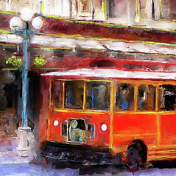 San Antonio 5 Oclock Trolley by Eduardo Tavares