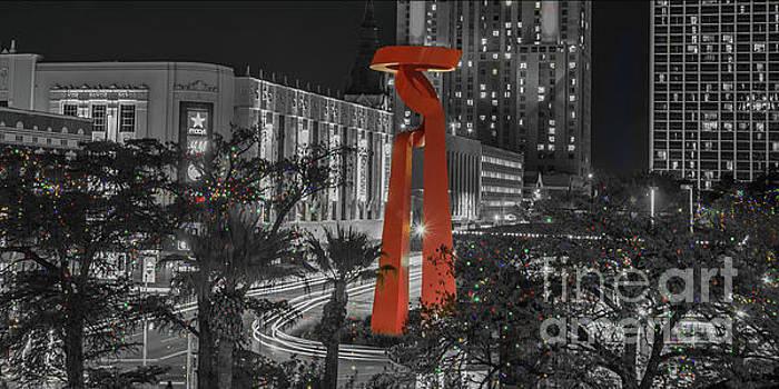 San Antonio La Antorcha de la Amistad Sculpture in Selective Color by Michael Tidwell