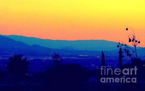 San Bernardino California Sunset Silhouette by Michael Hoard