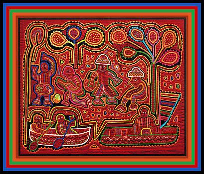 San Blas Cuna Cayuco Boats by Vagabond Folk Art - Virginia Vivier