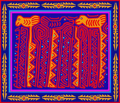 San Blas Indian Storks by Vagabond Folk Art - Virginia Vivier