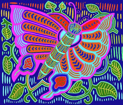 San Blas Kuna Butterfly by Vagabond Folk Art - Virginia Vivier