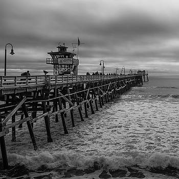 Andrew Wilson - San Clemente Pier - B and W