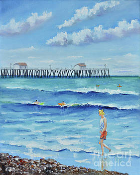 San Clemente Stroll by Mary Scott