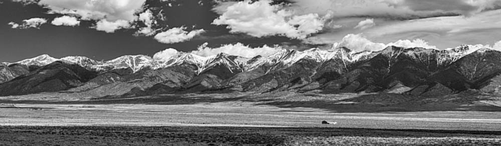 San de Cristo Mountains Panorama in Black and White by James BO Insogna