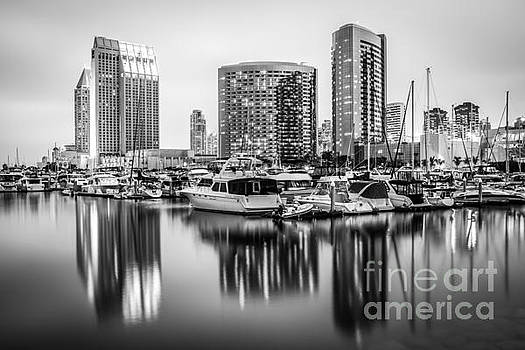Paul Velgos - San Diego at Night Black and White Picture