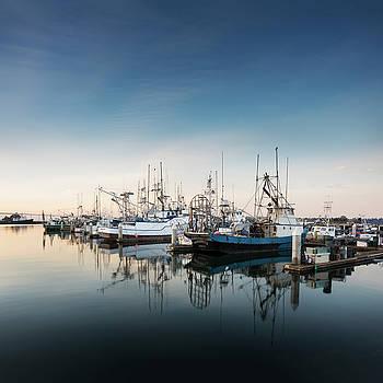 San Diego Bay Marina Sunrse by William Dunigan