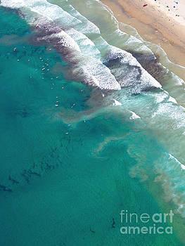 San Diego Coastline Aerial View by Christy Woodrow