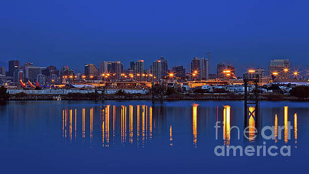 San Diego International Airport and Downtown Skyline by Sam Antonio Photography