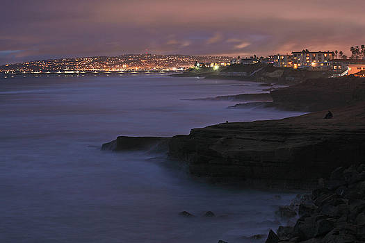 San Diego Shores at Night by Richard Hinds
