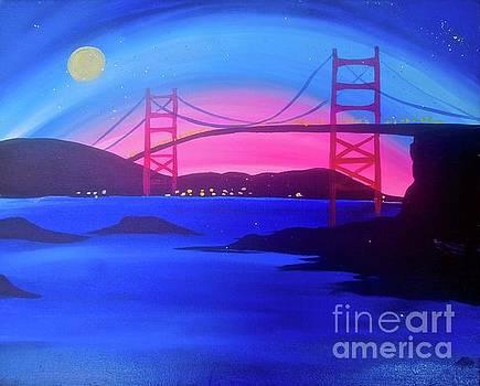 San Fran Bridge by Tony B Conscious