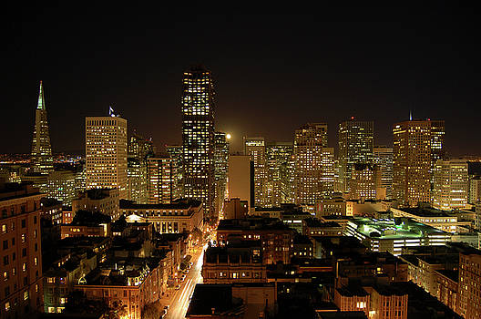 San Francisco at night by Paul Warburton