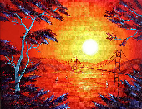 Laura Iverson - San Francisco Bay in Bright Sunset