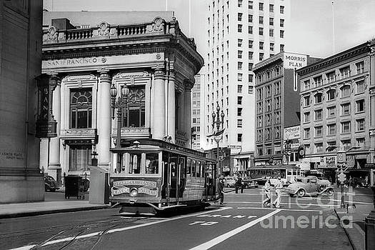 San Francisco Cable Car during WWII by Wernher Krutein