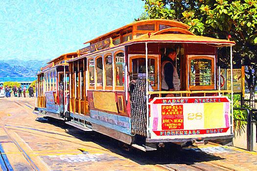 San Francisco Cablecar At Fishermans Wharf . 7D14097 by Wingsdomain Art and Photography