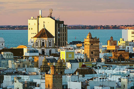 San Francisco Church From West Tower Cadiz Spain by Pablo Avanzini