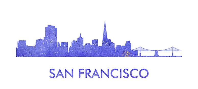 Vyacheslav Isaev - San Francisco city purple skyline