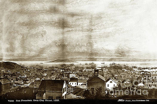 San Francisco, From Clay Street, 1855 by California Views Mr Pat Hathaway Archives