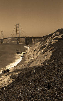 Frank Romeo - San Francisco - Golden Gate Bridge Sepia 2