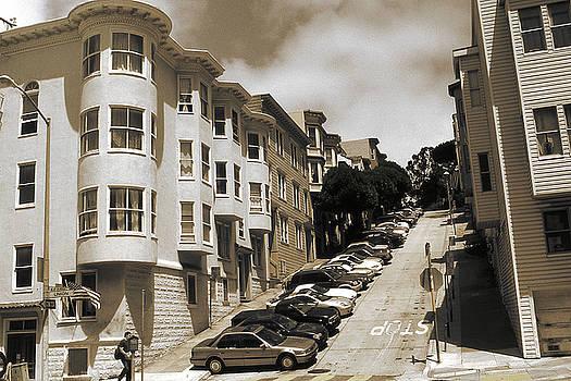 Peter Potter - Old San Francisco Photo - Hill Parking