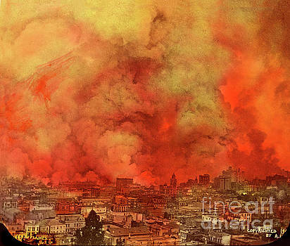 San Francisco in Flames April 18, 1906 by California Views Mr Pat Hathaway Archives