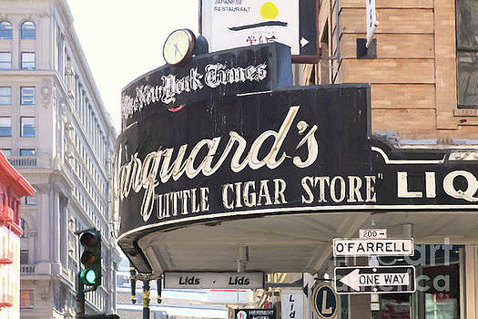 San Francisco Marquard's Little Cigar Store on Powell and O'Farrell Streets 5D17954 Painterly by San Francisco