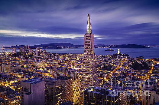 San Francisco Skyline at Night by Engel Ching