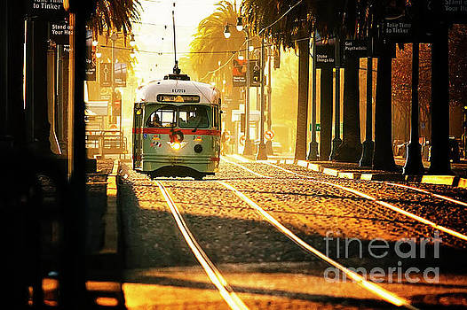 San Francisco Trolley in Morning Light by Katya Horner