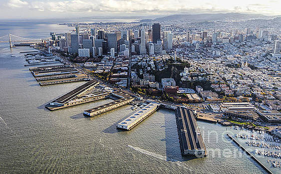 San Francisco Waterfront Aerial by Hugh Stickney