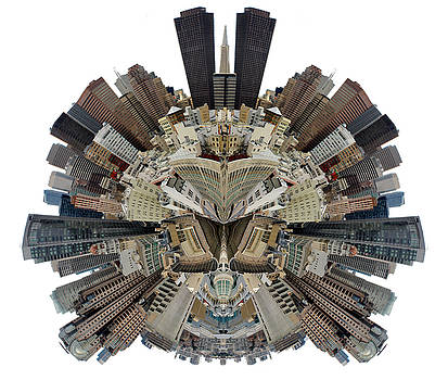 San Francisco World - Stereographic by Cedric Darrigrand