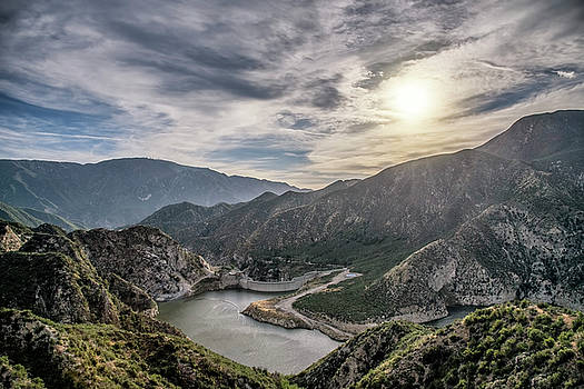 San Gabriel Mountains Dam by Steven Michael