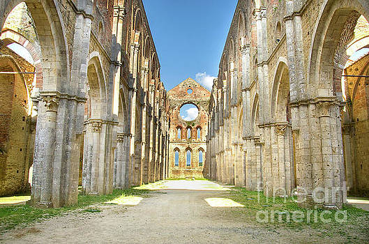 San Galgano Roofless Church Tuscany Region by Luca Lorenzelli