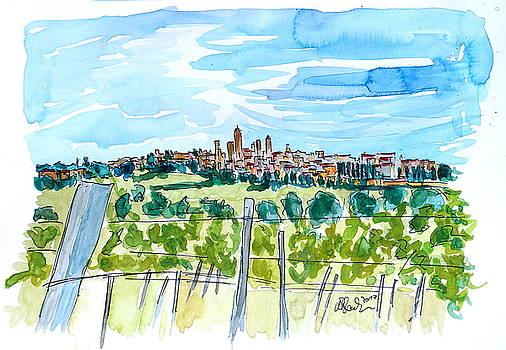 San Gimignano Manhattan of Tuscany Skyline  by M Bleichner