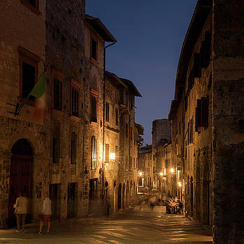 San Gimignano Night I by Niall Whelan