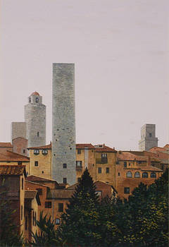 San Gimignano by Rodger Insh