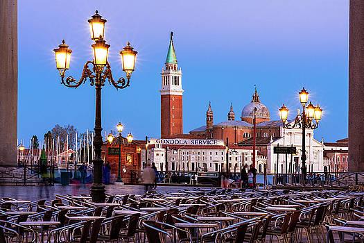 San Giorgio Maggiore from Piazza San Marco - Venice by Barry O Carroll