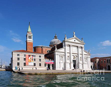 San Giorgio Maggiore in Venice Italy by Louise Heusinkveld