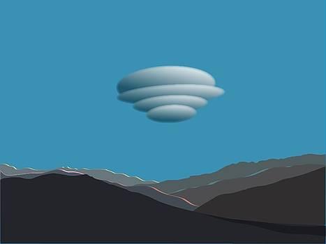 Stan  Magnan - San Jacinto Mts with Lenticular Cloud