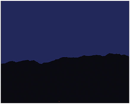 Stan  Magnan - San Jacintos at Night
